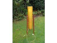 RETRO ROCKET ORANGE TRIPOD ATOMIC FLOOR LAMP FULL WORKING ORDER