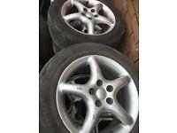 195/60R15 5 stude toyota wheels set