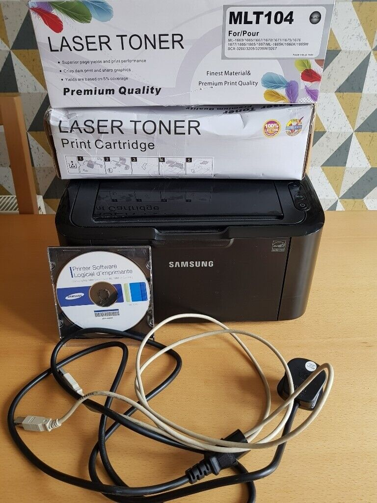 Samsung Mono Laser Printer plus 2 New Ink Cartridges  All Cables and  Software £40 | in Cambuslang, Glasgow | Gumtree