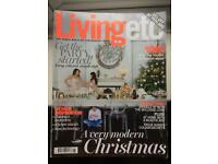 LIVING ETC MAGAZINES. 12 ISSUES. JAN - DEC 2014.