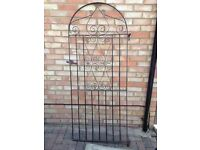 Iron gate - solid 6ft garden gate with both hinges and brackets collection from Kennington