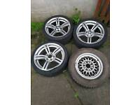 Bmw wheels x3 18 inch m6 alloys and x1 15 inch bbs 5.6.7 series wheels