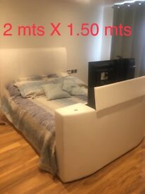 Tv Bed double white