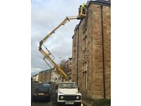 CHERRY PICKER HIRE PROPERTY MAINTENANCE ALL AROUND GLASGOW