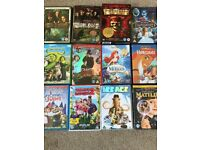12 DVDs suitable for children