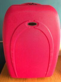 Pink hardback suitcase