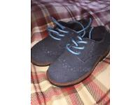 Boys Suede Brogues Infant Size 5 Never Worn