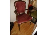 vintage chair with arms pink