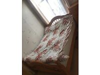 Pinewood double bed