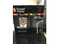 Russell Hobbs 3 Tier Food Steamer, brand new in box, unwanted gift.