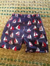 Baby boys Jojo Maman Bebe 6-12 months swim shorts