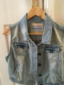 New Look denim sleeveless jacket size 14