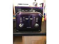 Purple Morphy Richards Toaster