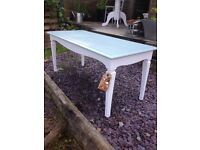Small White and mother duck coffee table