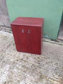 Mahogany Veneered 2 Door Cupboard