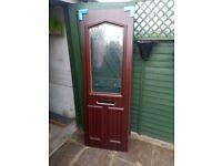Upvc door panel woodgrain on White 24mm thick