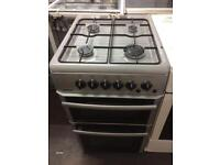 Silver beko 50cm gas cooker grill & double ovens good condition with guarantee