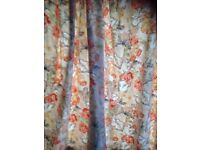 Curtains - Sanderson type floral - pretty and large curtains