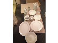 Fine china Dinner service for 6 settings