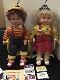Cricket & corky playmates talking dolls
