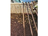 Cast iron clothes poles