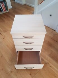 Office cabinet with 4 drawers beech veneer finish.