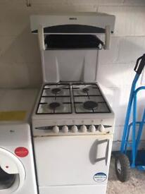 White Beko Eye Level Grill Gas Cooker Fully Working Order Just £75 Sittingbourne