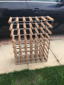 Solid Wooden wine rack