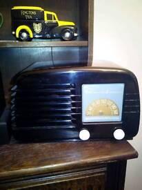 Vintage canadian stewart warner valve radio fulky working restored