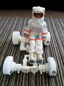 Vintage Action Man Space Astronaut With Moon Buggy £10