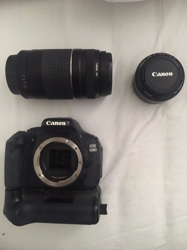Canon 600d SLR with 50mm Prime Lens and 75-300mm Lens