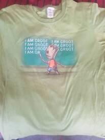 I Am Groot - The Simpsons Crossover Medium Shirt - Marvel - Homer Bart Simpson