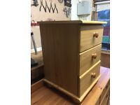 Set of Three Bedside Drawers