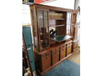 Bookcase and matching lowboard / sideboard