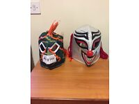 Mexican Wrestlers Masks. Authentic, hand made.