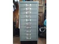 Bisley 10 Drawer non-locking Multidrawer