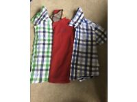 Boys Barbour tops x 3 aged 2/3