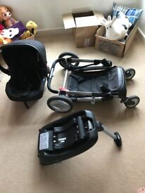 Mothercare Pram with Car Seat and Isofix Base