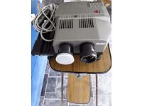 Rollievision twin MSC300 slide projector with projector table & screen