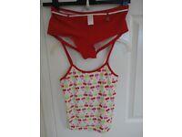 Girls Tankini top and bottom, swimwear New Look age 14 -15 VGC £1
