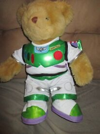 Build A Bear - Brown Build A Bear dressed in a Buzz Lightyear Outfit