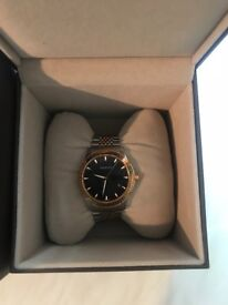 Gucci rose gold and silver watch, good condition, all boxes etc provided,