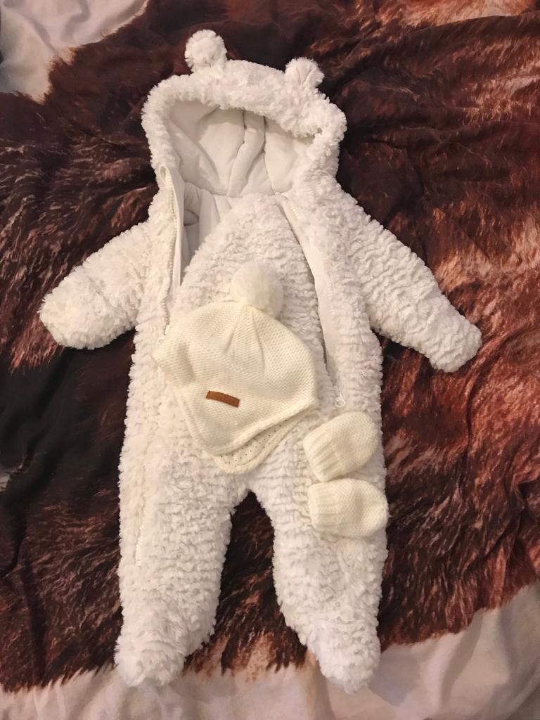 Baby Warm Jumpsuit +Hat and Glove set