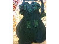 Beautiful bottle green maxi dress