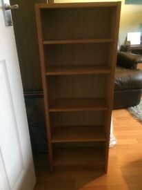 Oak coloured bookcase