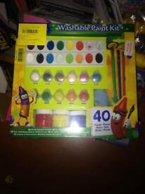 Kids washable paint kit