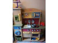 Little tikes wooden kitchen + accessories