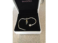 pandora bracelet displaying europeon charm, love and guidence,charm only