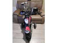 Full set golf clubs +bag + trolley+extras