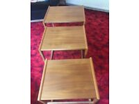 G Plan style nest of 3 tables in teak.